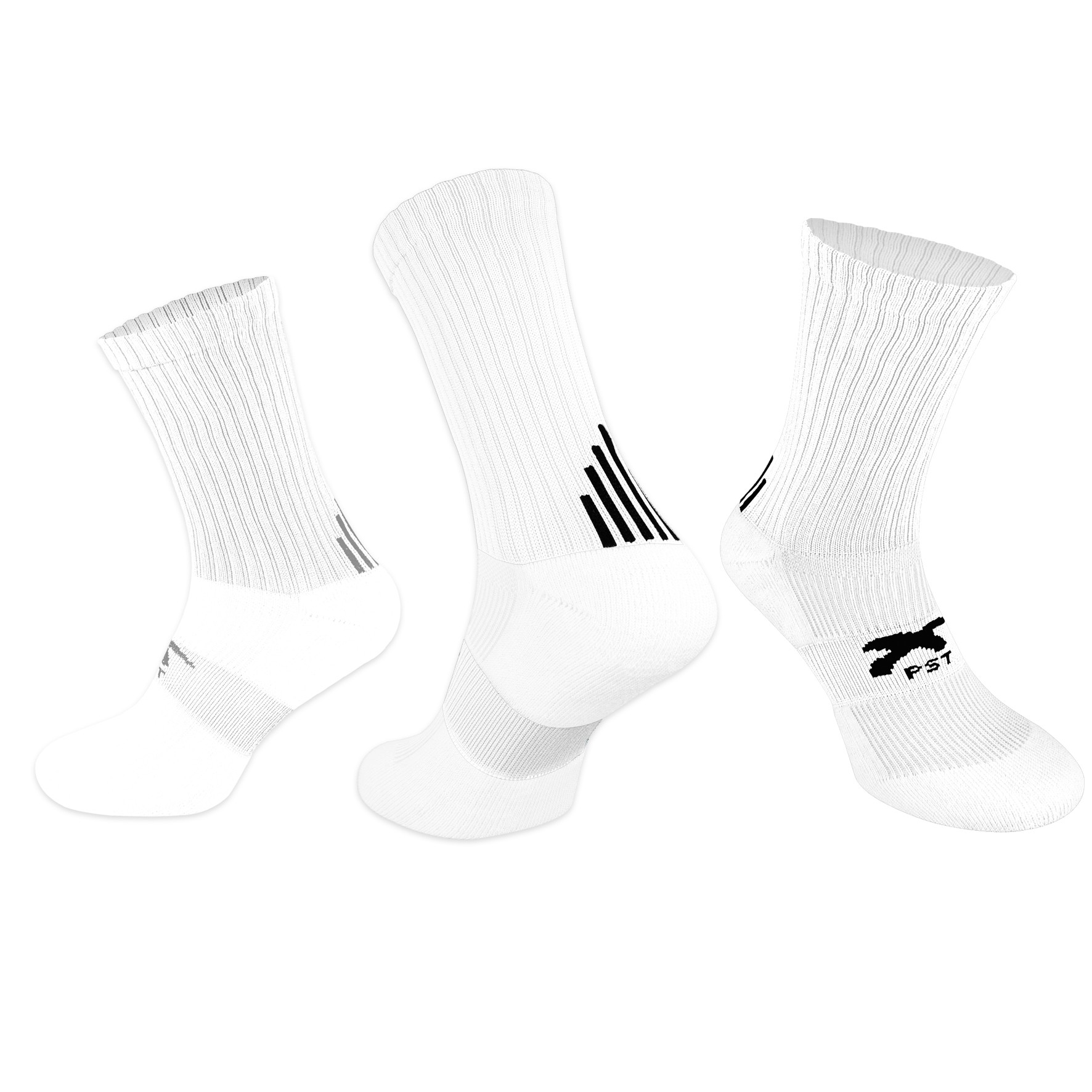 PST Crew Socks - White