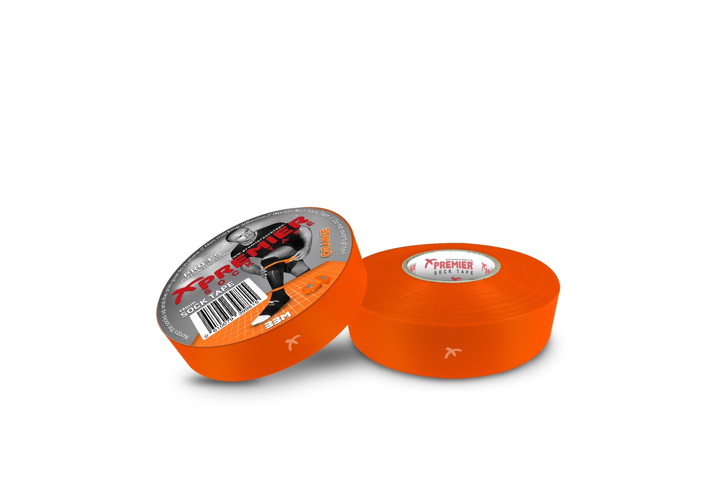 Premier Sock Tape 19mm-Orange