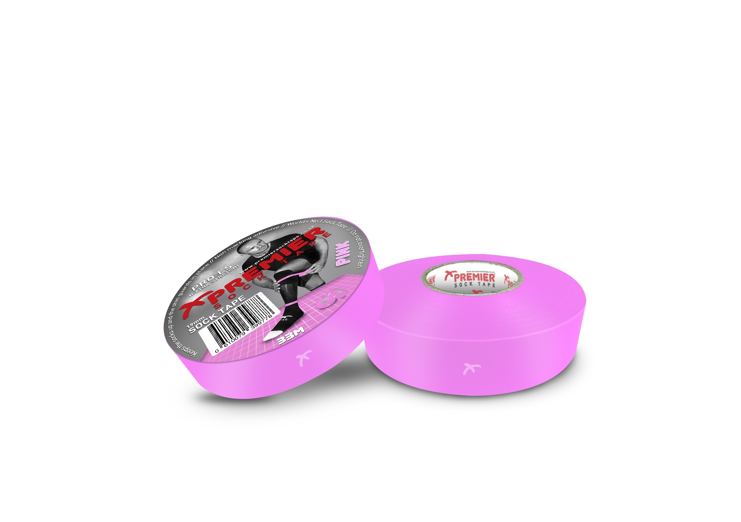 Premier Sock Tape 19mm-Pink