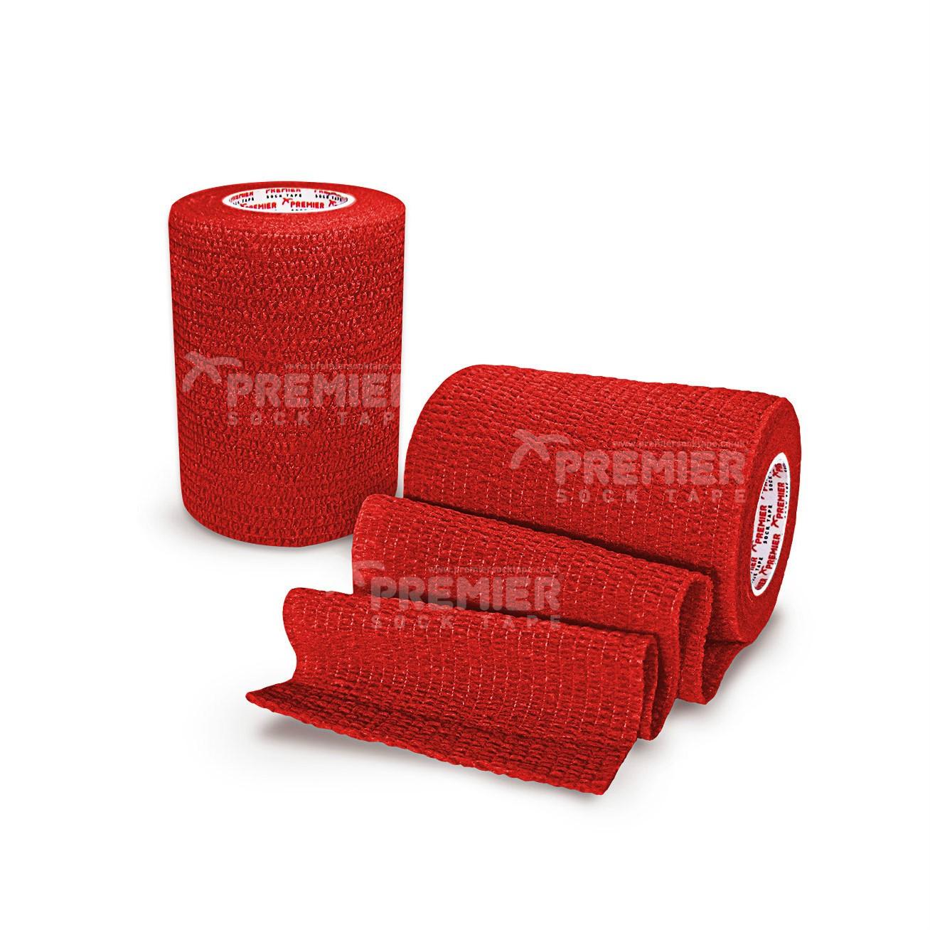 Premier Sock Tape Pro-Wrap 7.5cm - Red