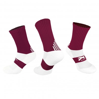 PST Crew Socks - Maroon
